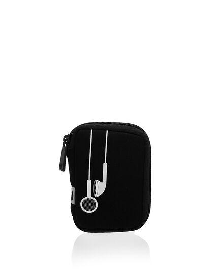 Black Ear Bud Case, Black, hi-res