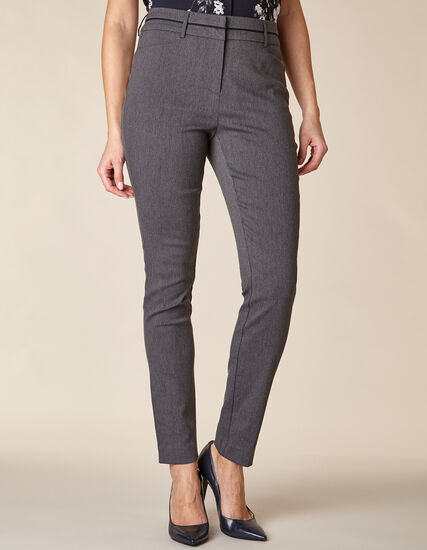 Grey Piped Skinny Pant, Grey, hi-res
