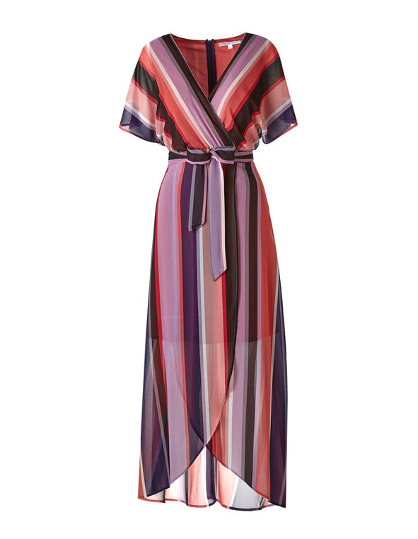 Purple Striped Maxi Dress, Purple, hi-res