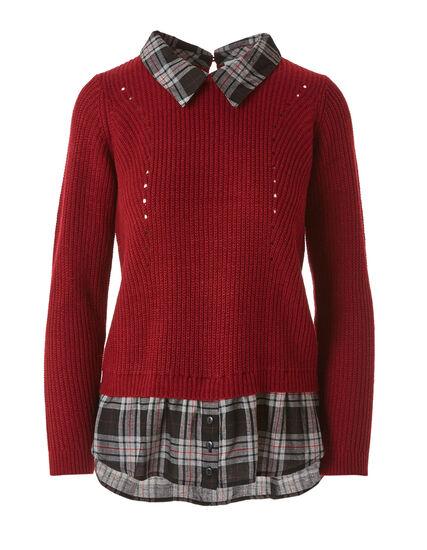 Red Fooler Sweater, Red, hi-res