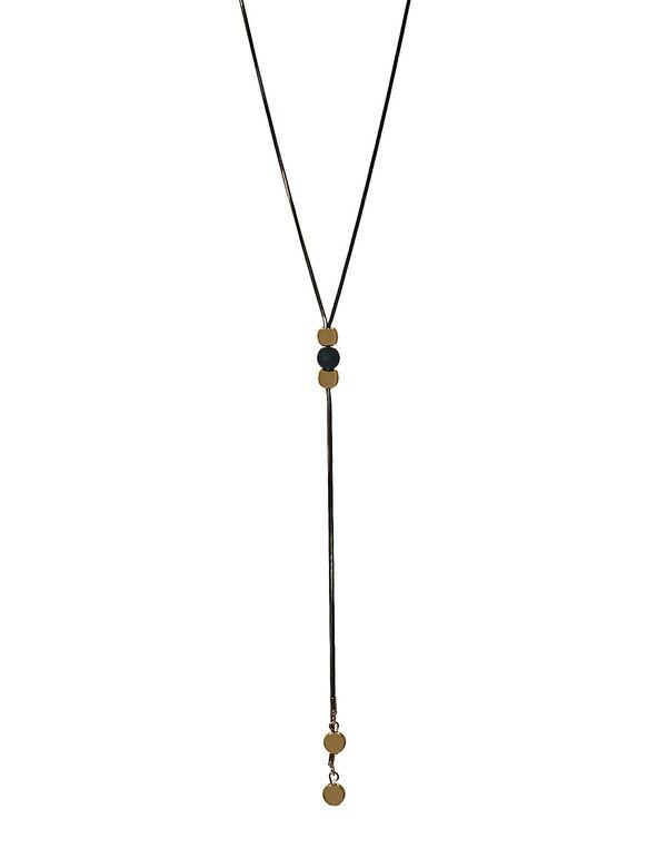 Black & Gold Adjustable Necklace, Black/Gold, hi-res