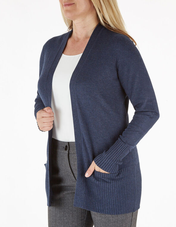 Navy Essential Cardigan, Navy, hi-res