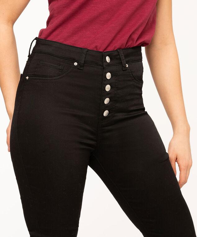 Black Label 5-Button Skinny Jean, Black