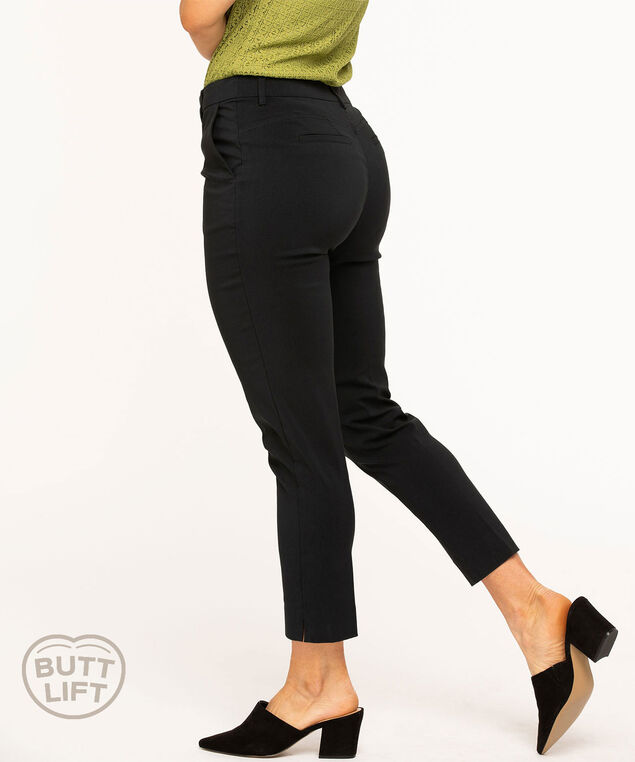 Butt Lift Slim Ankle Pant, Black