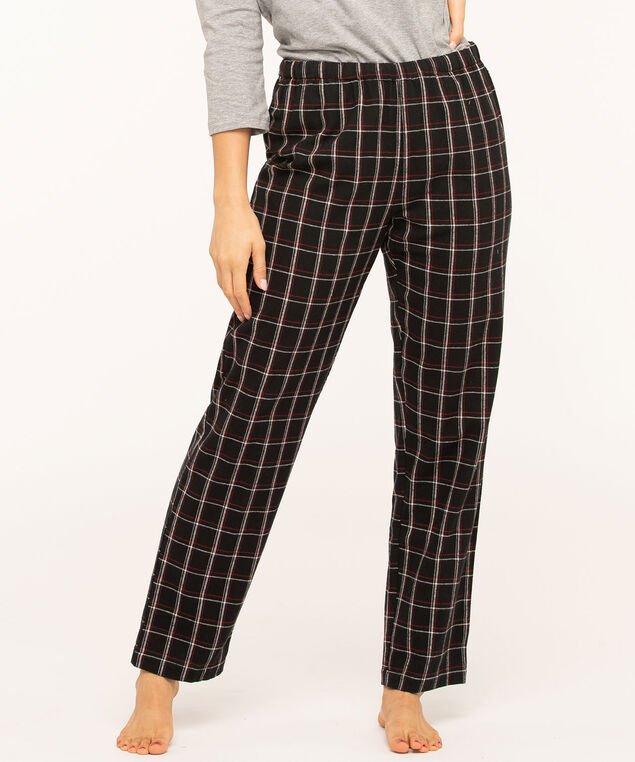 Plaid Pajama Pants, Black/Red/White, hi-res