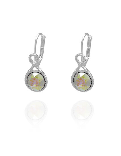 Aurora Genuine Crystal Drop Earring, Pink, hi-res