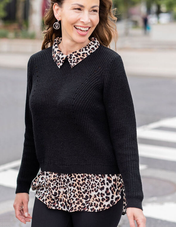 Black Fooler Sweater, Black, hi-res