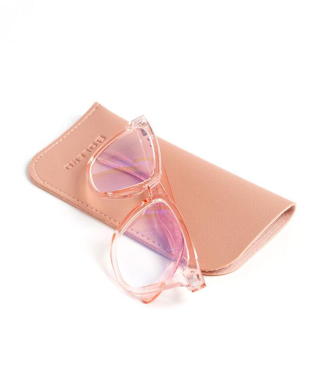 Round Blue Light Reader Glasses, Pink
