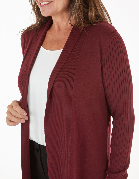 Merlot Recycled Fabric Cardigan, Merlot, hi-res
