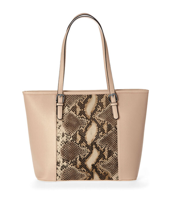 Pink Animal Print Tote, Pink, hi-res