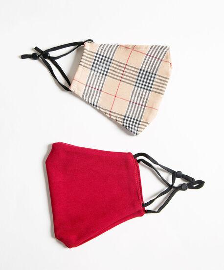 Camel & Red Face Mask Set, Camel/Black/Red, hi-res
