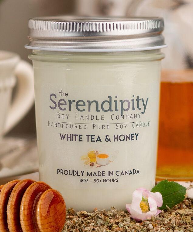 White Tea & Honey Soy Candle, White