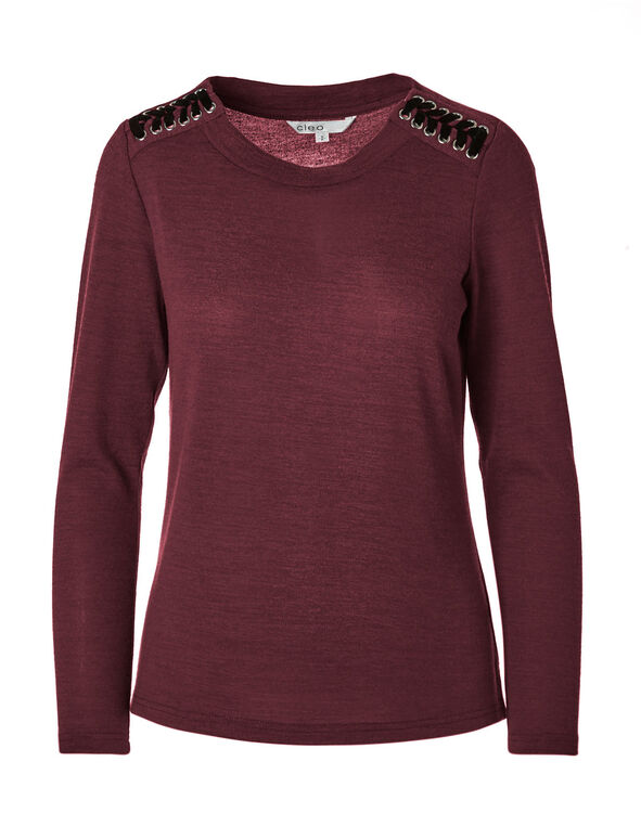 Wine Hacchi Sweater, Wine, hi-res