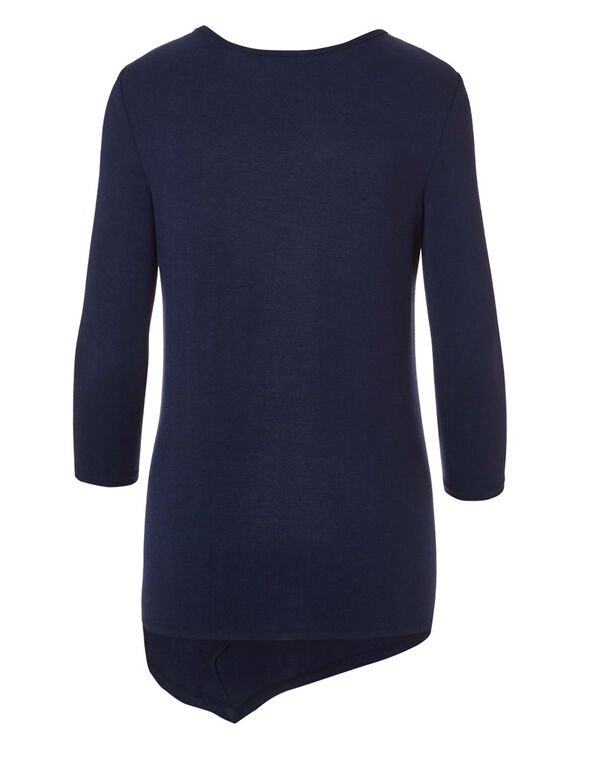 Navy Side Button Tunic, Navy, hi-res