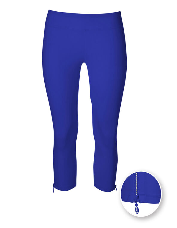 Electric Blue Cotton Capri, Electric Blue, hi-res