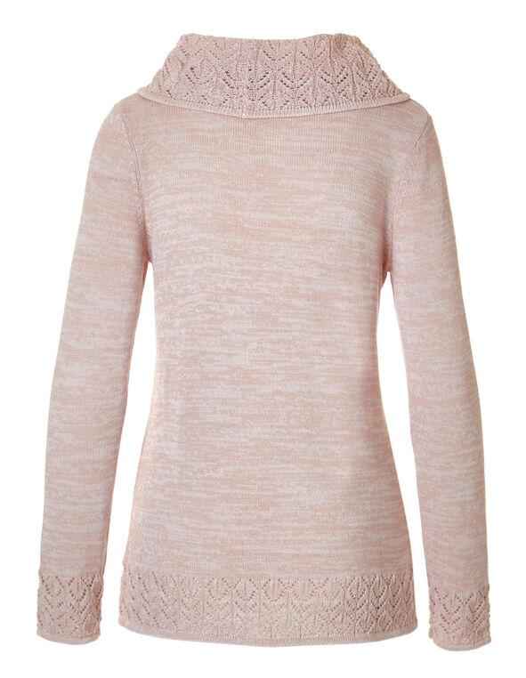 Soft Blush Crochet Hem Sweater, Soft Blush, hi-res