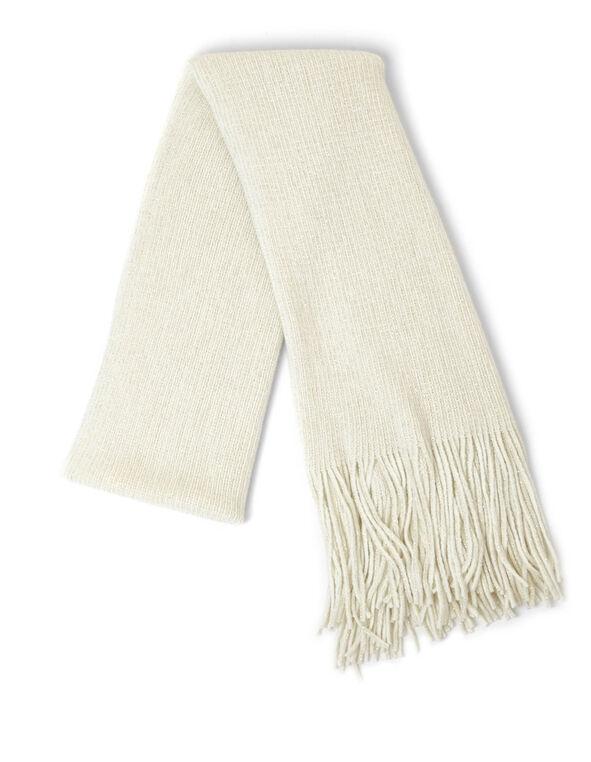 Ivory Shimmer Scarf, Ivory, hi-res