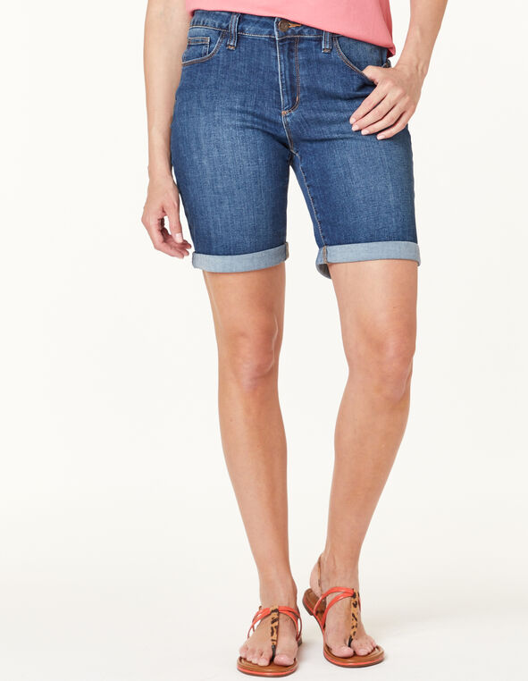 Med Wash Jean Short, Lt Blue, hi-res