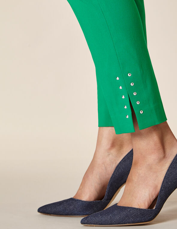 Emerald Slim Ankle Pant, Green/Emerald, hi-res