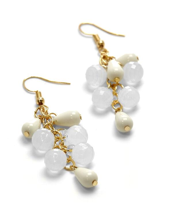 Ivory Beaded Drop Earring, IVORY, hi-res