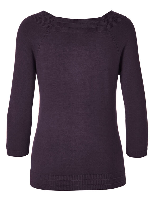 Purple Pullover Sweater, Purple, hi-res