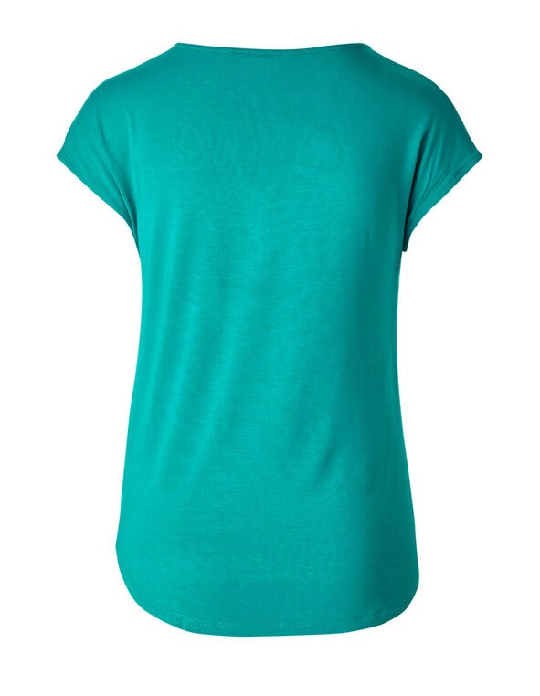 Summer Turquoise Pleated Top, Summer Turquoise, hi-res