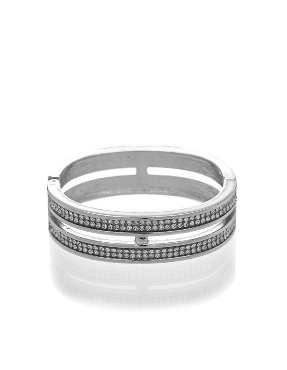 Silver Hinge Bracelet, Silver, hi-res