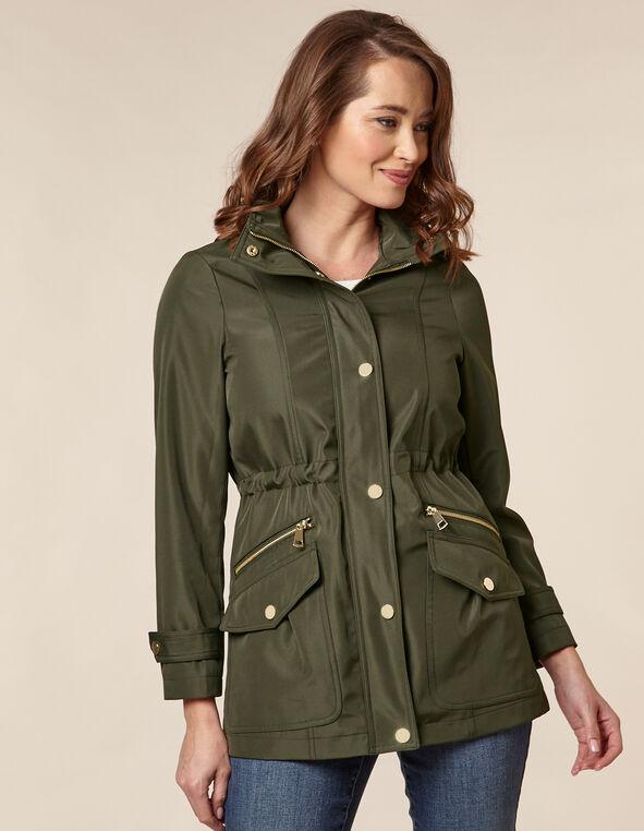 Olive Anorak Coat, Green/Olive, hi-res