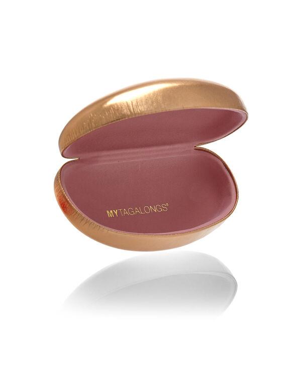 Rose Gold Hard Shell Glasses Case, Rose Gold, hi-res