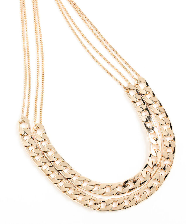 Convertible Layered Chain Link Necklace, Gold
