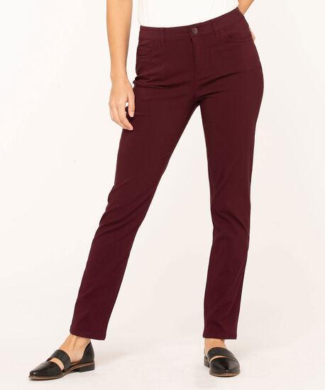 Mulberry Curvy 5-Pocket Slim Pant, Mulberry, hi-res