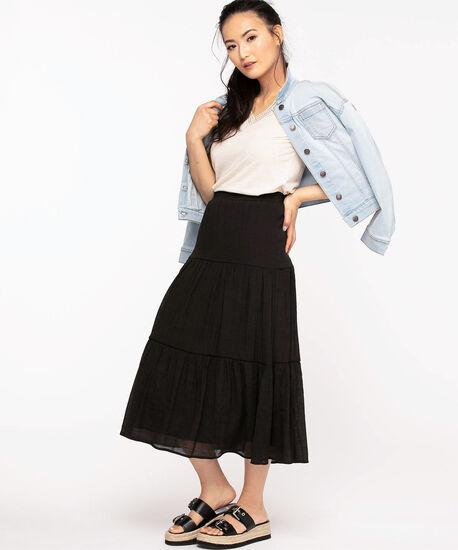 Black Peasant Skirt, Black, hi-res