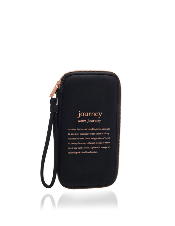 Travel Document Caddy, Black, hi-res