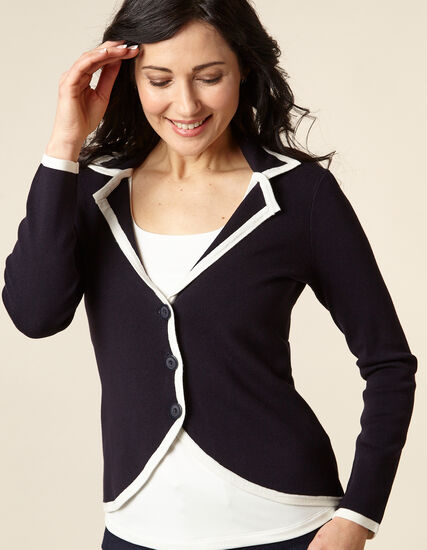 Navy Knit Sweater, Navy, hi-res