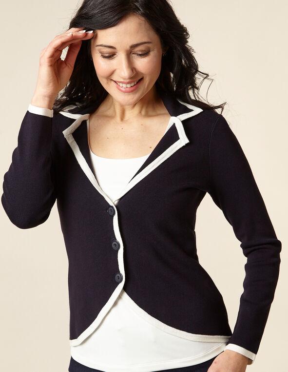 Navy Knit Sweater, Navy, hi-res