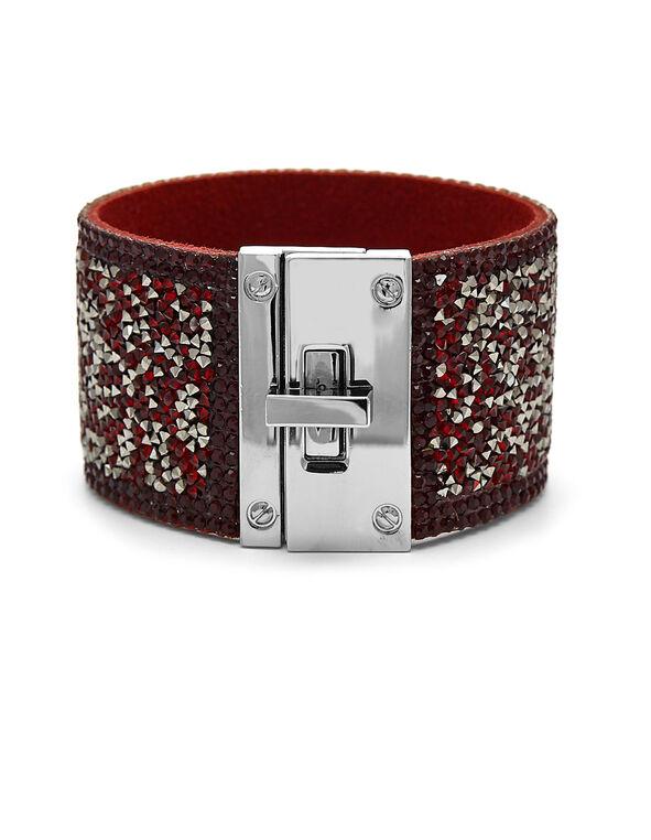 Ruby Glitter Wrap Bracelet, Red, hi-res