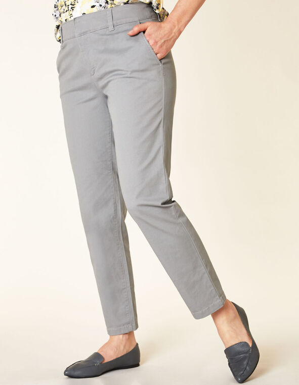 Light Grey Chino Slim Ankle Pant, Grey, hi-res
