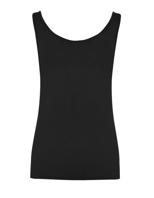 Black Universal Layering Tank, Black, hi-res