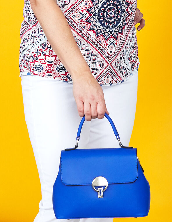 Small Cobalt Crossbody Lady Bag, Cobalt, hi-res