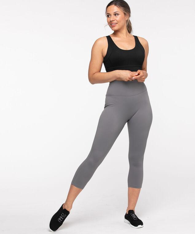 Active Back Pocket Capri Legging, Grey