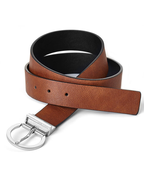 Black & Brown Reversible Belt, Black/Brown, hi-res