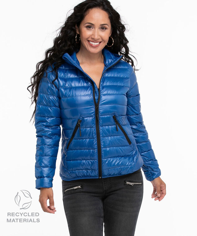 Recycled Pack It Up Down Jacket, Cobalt