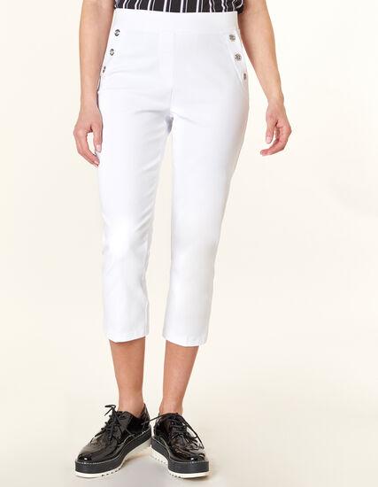 White Grommet Capri, White, hi-res