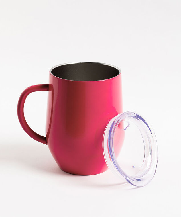 Insulated Cup with Handle, Hot Pink