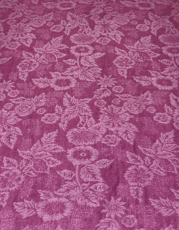 Sangria Floral Lurex Pashmina Scarf, Sangria, hi-res