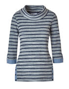 Blue Striped French Terry Top, Blue, hi-res