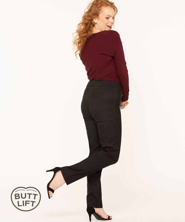 Charcoal Butt Lift Slim Pant, Charcoal, hi-res