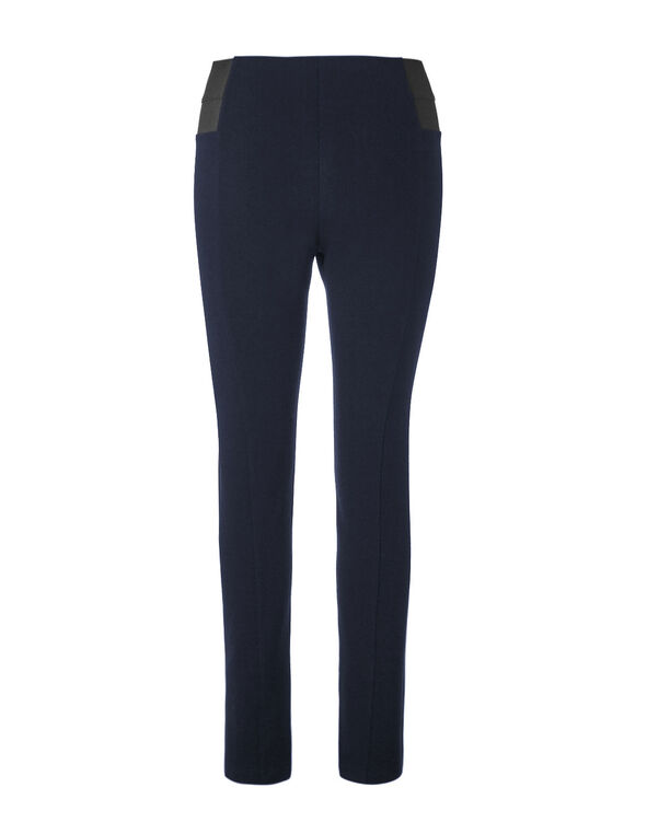Navy High Waisted Legging, Navy, hi-res
