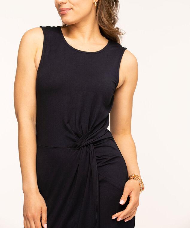 Navy Sleeveless Twist Detail Dress, Navy