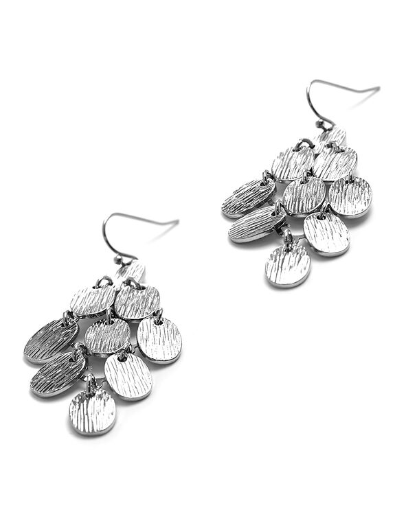 Silver Chandelier Earring, Silver, hi-res